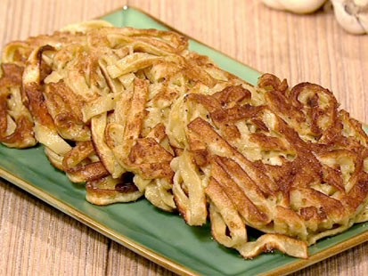 PHOTO: Mario Batalis tagliatelle pancakes are shown here.
