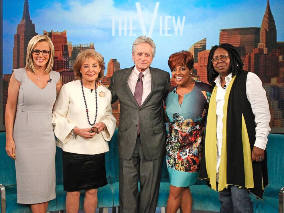PHOTO: Michael Douglas appears on The View on May 16, 2014 as Barbara Walters says farewell to live daily television with her final co-host appearance on the daytime program she created for ABC.