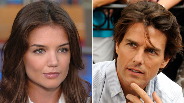 PHOTO: Katie Holmes and Tom Cruise appear at separate times on GOOD MORNING AMERICA.