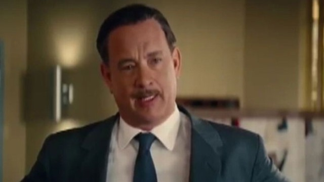 "VIDEO: Tom Hanks stars as Walt Disney in his quest to turn ""Mary Poppins"" from a book into a movie."