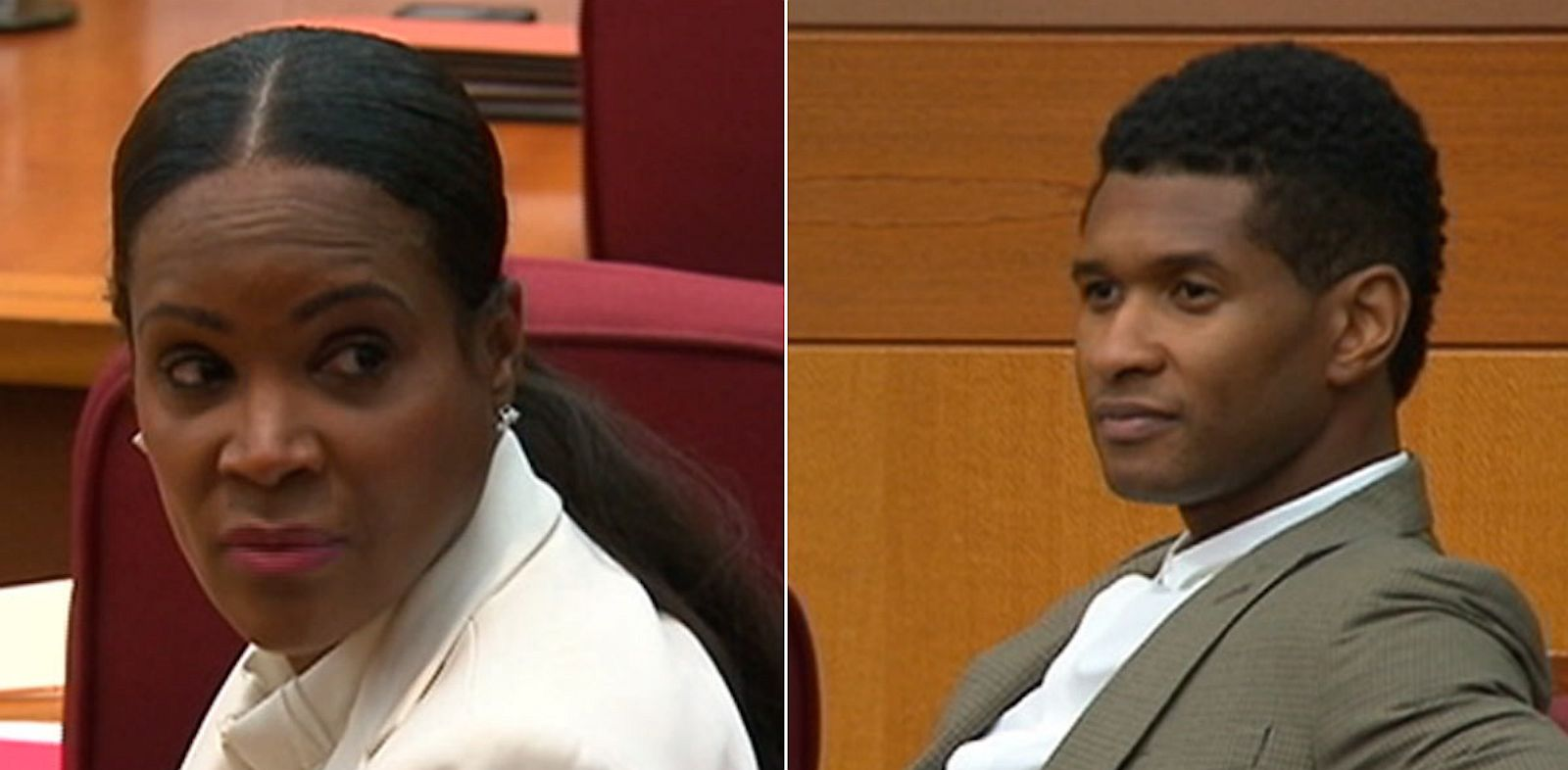 PHOTO: Usher Raymond and Tameka Foster were in court on Aug. 9, 2013 in Atlanta, Ga. for a custody hearing.