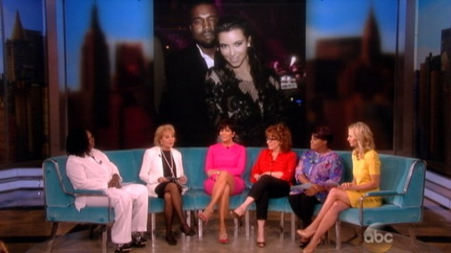 "VIDEO: Kim Kardashians mom tells ""The View"" she loves her granddaughters name."