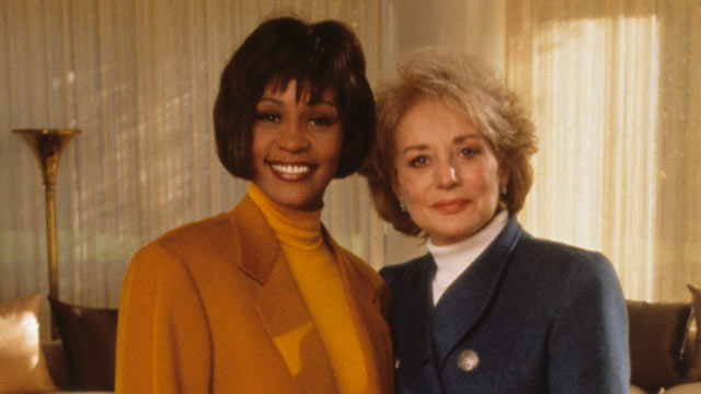 PHOTO: Whitney Houston poses for a photo with Barbara Walters, after an interview, in this Nov. 9, 1993 file photo.