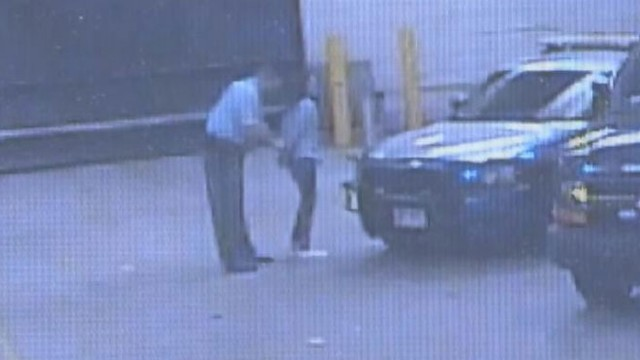 VIDEO: Atlanta police bring actress into station for booking after disorderly conduct arrest.