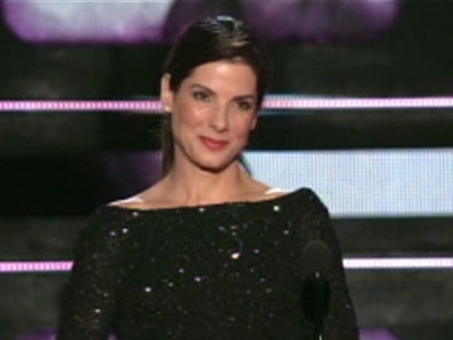 VIDEO: Sandra Bullock jokes about her troubles at this years MTV movie awards.