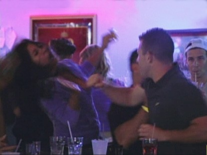 VIDEO: Snooku gets punched on the MTV show Jersey Shore.