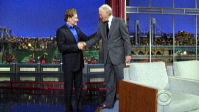 VIDEO: Conan OBrien on David Letterman Show Talks Jay Leno