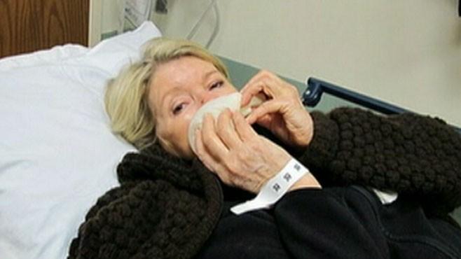VIDEO: Martha Stewart required nine stitches after being bitten by her bulldog.