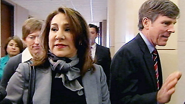 PHOTO: Yvonne Stern, who survived three attempts on her life, is shown leaving court in Houston, Texas.