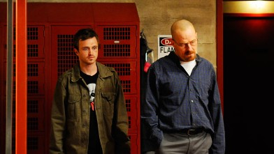 "PHOTO: Jesse Pinkman (Aaron Paul) and Walter White (Bryan Cranston), seen here as co-stars on ""Breaking Bad"", recently endorsed Michael Ulin for high school class president via a Youtube video."