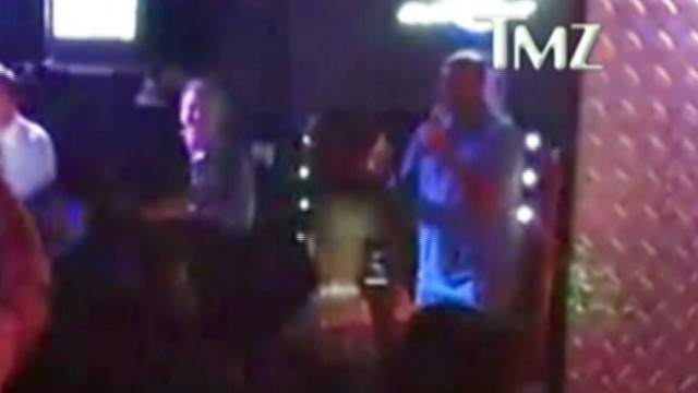"""VIDEO: Former basketball players karaoke rendition of """"End of the Road"""" gets support at fundraiser."""