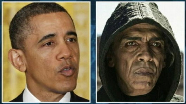 VIDEO: Viewers take to Twitter to comment on History Channel actors resemblance to the president.