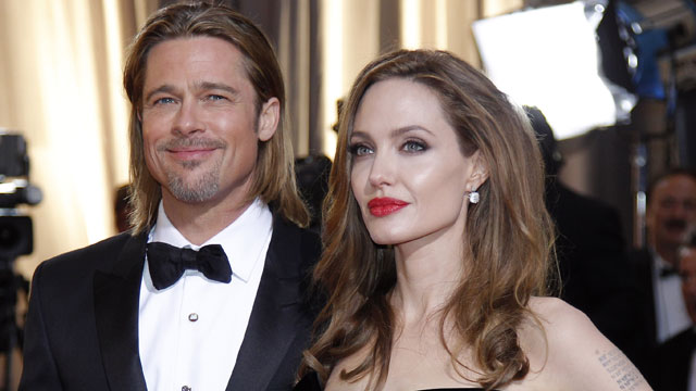 PHOTO:In this Feb. 26, 2012 file photo, Brad Pitt, left, and Angelina Jolie arrive before the 84th Academy Awards, in the Hollywood section of Los Angeles.