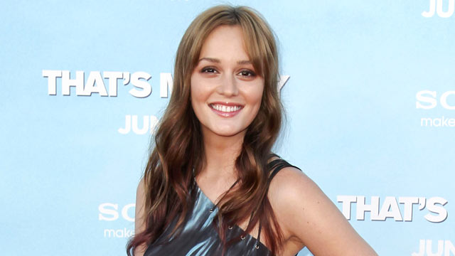 """PHOTO: Cast member Leighton Meester arrives at the premiere of """"That's My Boy"""", June 4, 2012, in Los Angeles."""