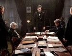 """PHOTO: Daniel Day-Lewis, center rear, as Abraham Lincoln, is seen in a scene from the film, """"Lincoln."""""""