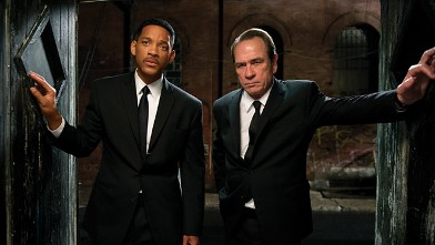 "PHOTO: Tommy Lee Jones, right, and Will Smith star are shown in a scene from ""Men in Black 3."""