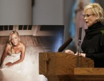 PHOTO: Lorrie Morgan speaks during a memorial service for fellow country singer Mindy McCready on Wednesday, March 6, 2013, in Nashville, Tenn. McCready committed suicide Feb. 17 in Heber Springs, Ark.