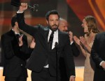 """PHOTO:Ben Affleck, center, and the cast of """"Argo"""" accept the award for outstanding cast in a motion picture at the 19th Annual Screen Actors Guild Awards at the Shrine Auditorium in Los Angeles on Sunday Jan. 27, 2013."""
