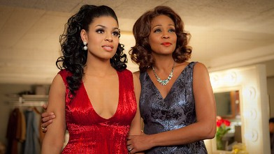 "PHOTO: Singer-actresses Jordin Sparks, left, and Whitney Houston are shown in a scene from the upcoming film ""Sparkle."""