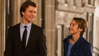PHOTO: This image released by 20th Century Fox shows Ansel Elgort, left, and Shailene Woodley appear in a scene from The Fault In Our Stars.