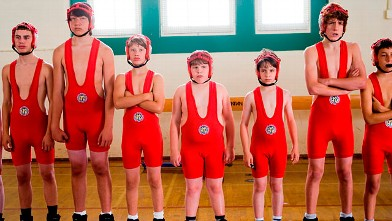 "PHOTO: Zachary Gordon, third from right, is shown in a scene from ""Diary of a Wimpy Kid."""