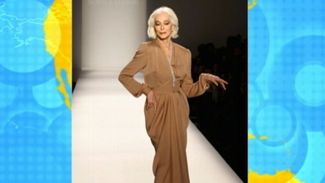 VIDEO: Carmen DellOrefice walked the runway during New York Fashion Week.
