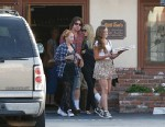 PHOTO: Billy Ray Cyrus and his soon-to-be ex-wife, Tish, looked very affectionate while taking their daughter Noah out for lunch at Little Tonys in North Hollywood, June 23, 2013.