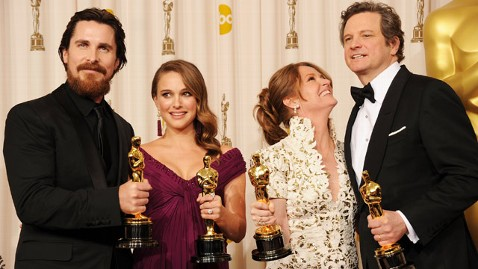 gty 2011 oscar winners christian bale natalie portman melissa leo colin firth jt 130224 wblog Instant Index: Oscar Swag Bags, Acceptance Speeches and The Razzies