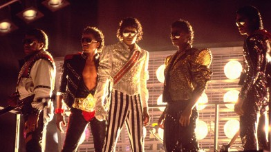 PHOTO: From left: Tito, Marlon, Michael, Randy and Jermaine Jackson perform during the Jackson 5 Victory Tour.