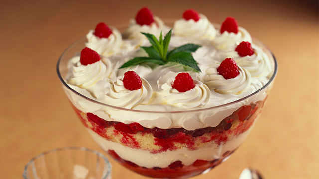 PHOTO: Raspberry trifle