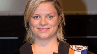 PHOTO: Former tennis player Kim Clijsters