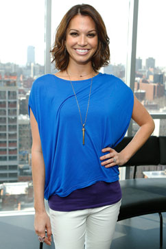 Actress melissa rycroft attends the clearblue advanced ovulation test