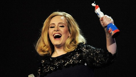 gty adele brit awards tk 120222 wblog Adele Flips the Bird at Brit Awards