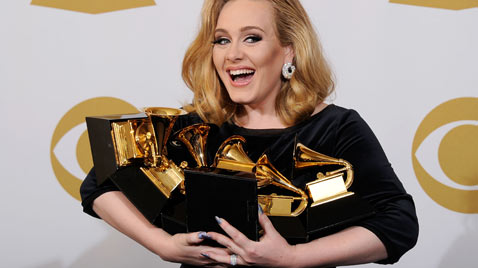 gty adele grammy awards thg ss 120213 wblog Today in Pictures: Snow Monkeys, Athens Clashes, Westminster Dogs, and The Grammys