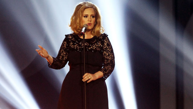 PHOTO: Adele performs at The Brit Awards 2012 on Feb. 21, 2012 in London.