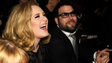 PHOTO: Adele and Simon Konecki attend The 54th Annual Grammy Awards, Feb. 12, 2012, in Los Angeles.