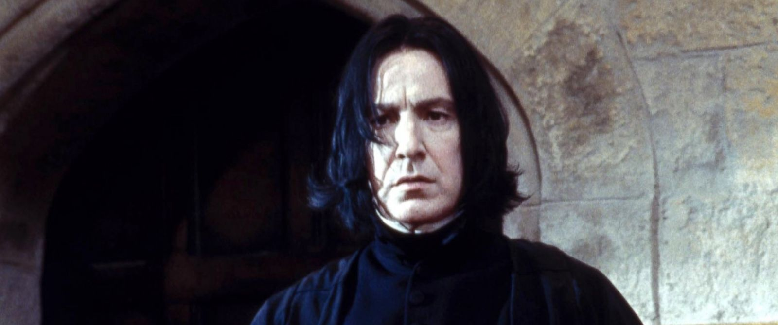 """PHOTO: Alan Rickman is seen as Professor Snape in an image from """"Harry Potter and the Philosophers Stone,"""" 2001."""