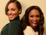 PHOTO: (L-R) Producer/musician Alicia Keys and actress Jennifer Hudson pose for a portrait during the 2013 Sundance Film Festival at the Getty Images Portrait Studio at Village at the Lift on Jan. 18, 2013 in Park City, Utah.