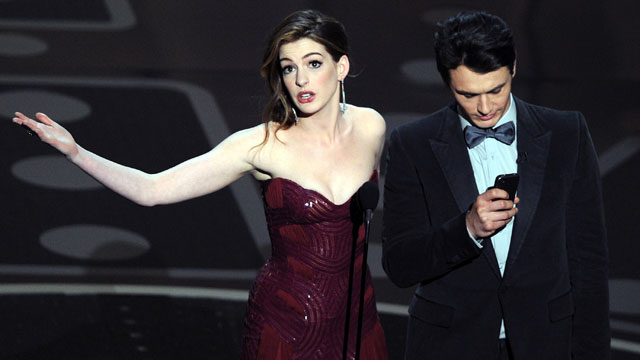 PHOTO: Actors James Franco, right, and Anne Hathaway present the 83rd Annual Academy Awards, Feb. 27, 2011 in Hollywood, Calif.