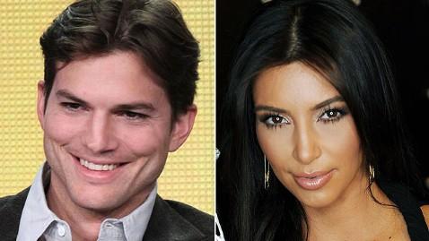 gty ashton kutcher kim karashian dm 120604 wblog Kim Kardashian Gets Punkd by Ashton Kutcher