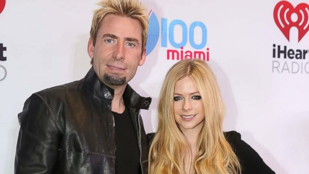 PHOTO: Chad Kroeger and Avril Lavigne participates in Y 100 Jingle Ball at BB&T Center on Dec. 20, 2013 in Sunrise, Fla.
