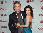 PHOTO: Actor Alec Baldwin and his wife Hilaria Thomas attend CAA Sports Super Bowl Party presented By LG at Contemporary Arts Center on February 2, 2013 in New Orleans, Louisiana.