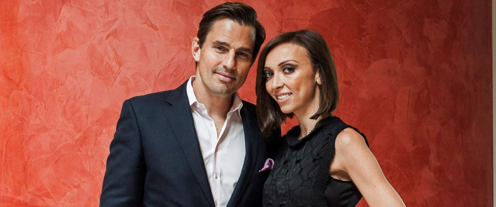 PHOTO: Bill and Giuliana Rancic pose for a portrait at the Embassy of Italy on October 14, 2013 in Washington, DC.