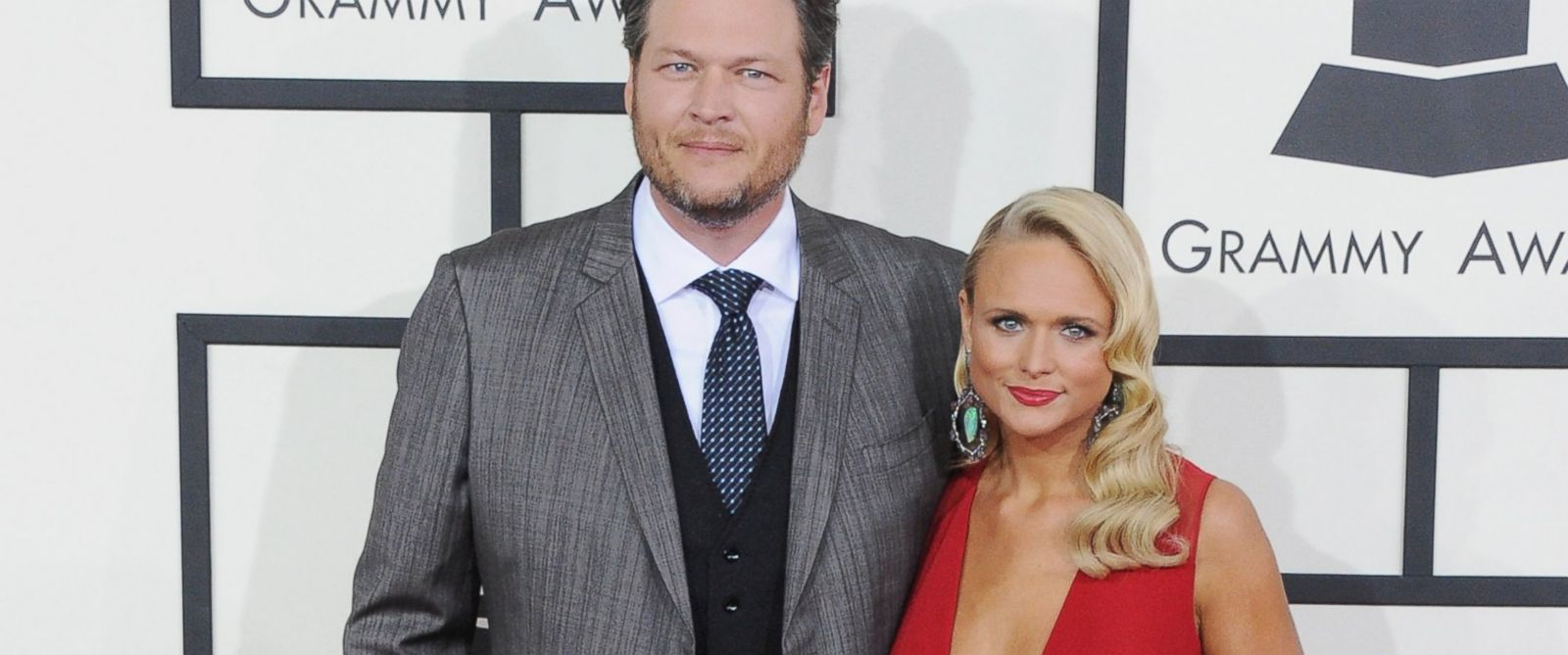 PHOTO: Singers Blake Shelton and Miranda Lambert arrive at the 56th GRAMMY Awards in this file photo, Jan. 26, 2014 in Los Angeles.
