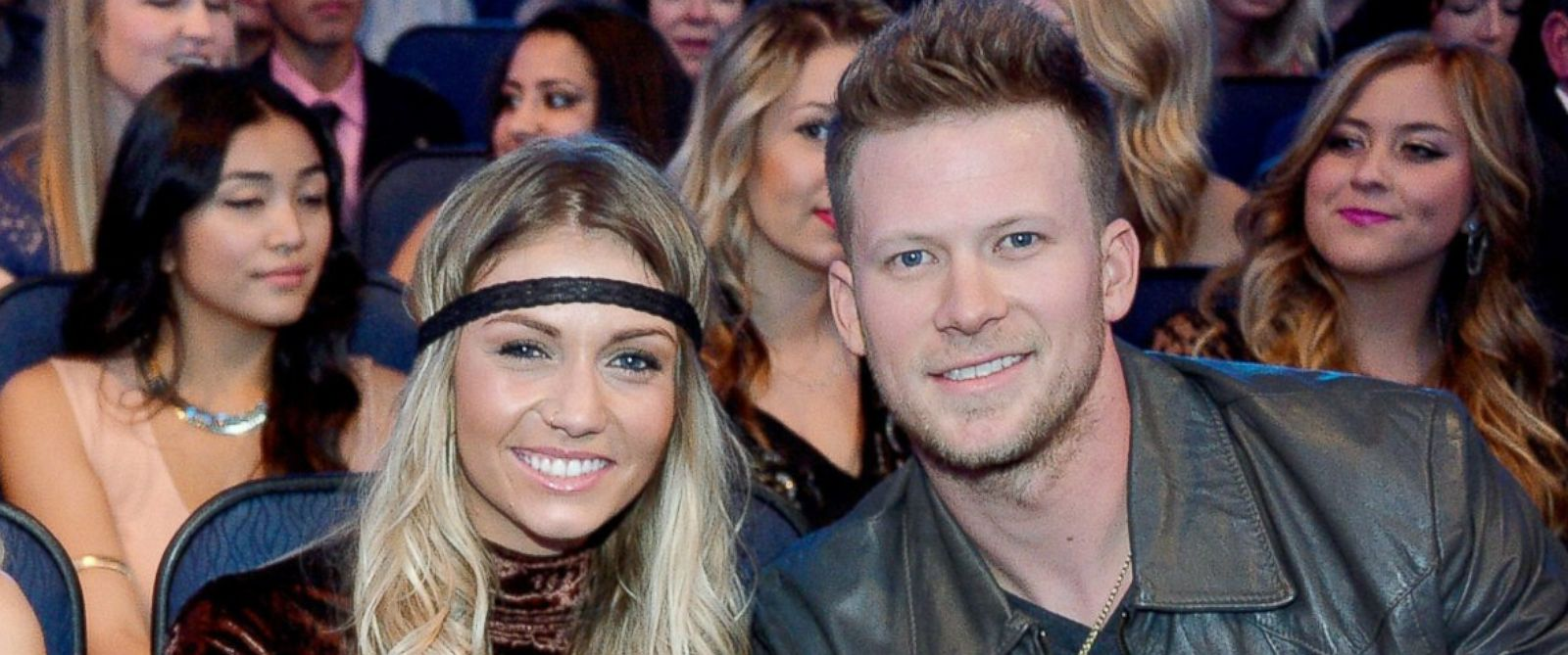 PHOTO: Brian Kelley and Brittney Marie Cole attend the American Music Awards on November 24, 2013 in Los Angeles, Calif.