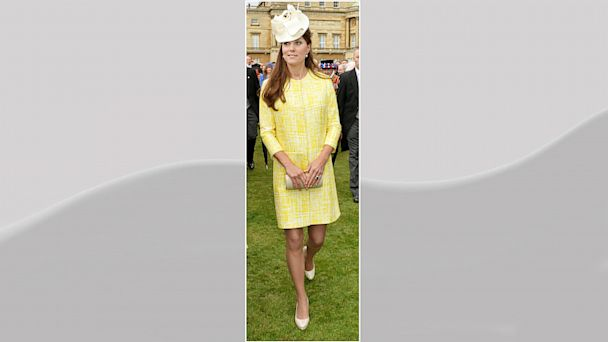 PHOTO: Catherine, Duchess of Cambridge attends a Garden Party in the grounds of Buckingham Palace hosted by Queen Elizabeth II on May 22, 2013.