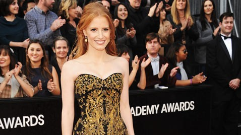 gty chastain 120226 wblog The Oscars: 2012 Live Blog