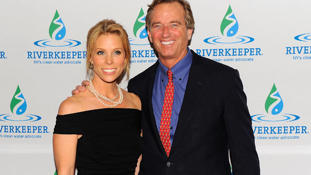 PHOTO: Cheryl Hines and Robert F. Kennedy, Jr. attend 2012 Riverkeepers Annual Fishermens Ball at Pier Sixty at Chelsea Piers, April 26, 2012, New York City.