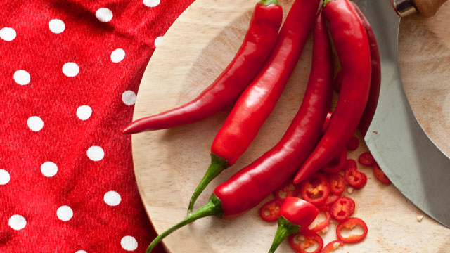 PHOTO: Chili peppers are a great way to spice up your recipes and add lots of flavor without adding fat.