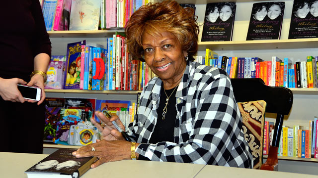 """PHOTO: Cissy Houston signs copies of her new book """"Remembering Whitney"""" at Bookends on January 31, 2013 in Ridgewood, New Jersey."""